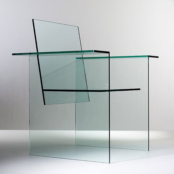 Kuramata Glass Chair Designophy Designpedia Www