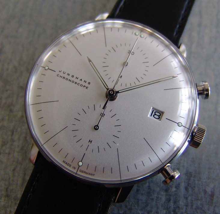 Junghans Max Bill Chronoscope  Designophy   Designpedia  www